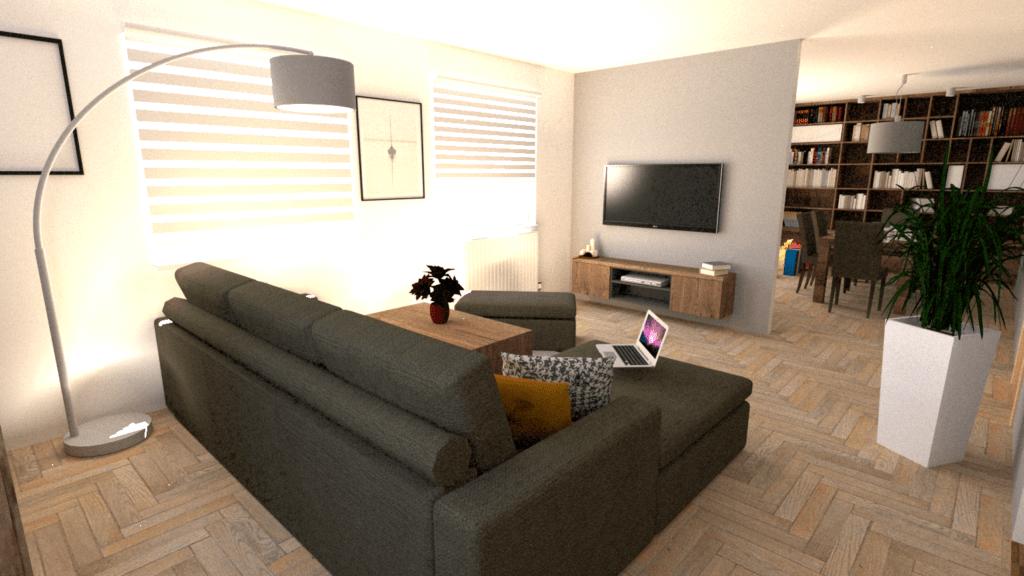 ukázka návrhu malého bytu